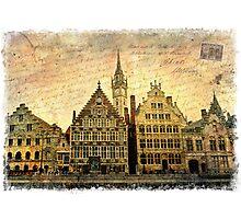 Ghent, Belgium – Forgotten Postcard Photographic Print