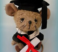 Handmade bears from Teddy Bear Orphans - Chester the Mouse by Penny Bonser