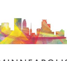 Minneapolis, Minnesota Skyline WB1 Sticker