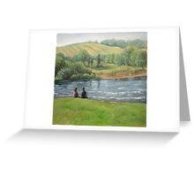 By the weir Greeting Card