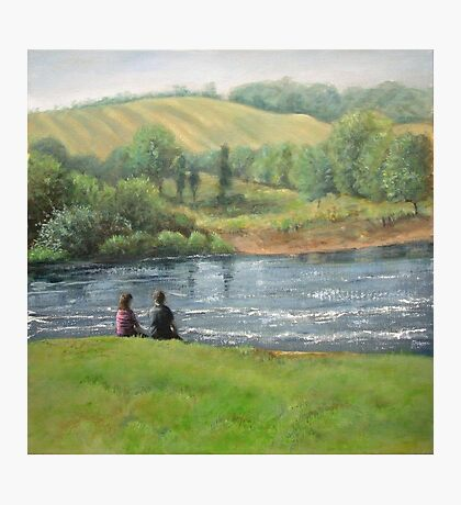 By the weir Photographic Print