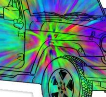 Tie Dye Jeep Sticker