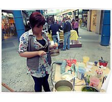Chocolate Artist at Chocofest 2011, Bay Street, Malta. Poster