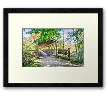 Kal-Haven Trail Covered Bridge Framed Print