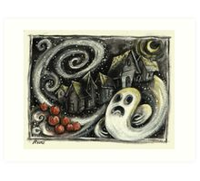 Hallowe'en Night! Art Print