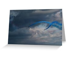 The Red Arrows leaving the air show Greeting Card
