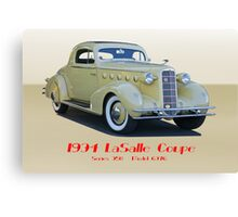 1934 LaSalle Series 350 Coupe II Canvas Print