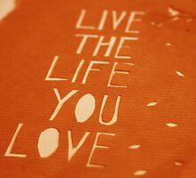 Live the life you love by Shona Singleton