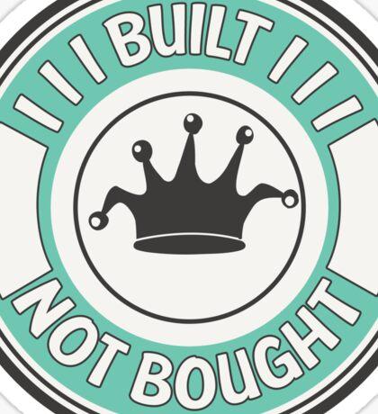 Jdm built not bought badge - minty Sticker