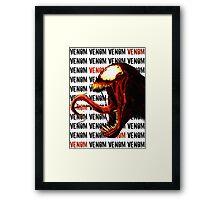 Venom Inspired Design Framed Print