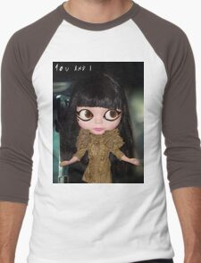 You & I Lady Gaga inspired doll picture Men's Baseball ¾ T-Shirt