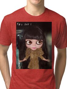 You & I Lady Gaga inspired doll picture Tri-blend T-Shirt