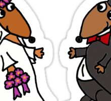 Awesome Bride and Groom Kangaroo Art Original Sticker