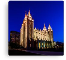 A Night at the Salt Lake Temple Canvas Print