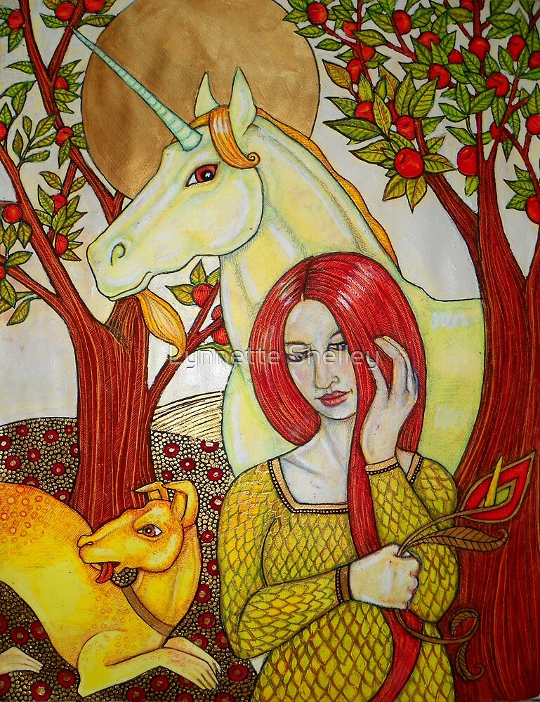 The Maiden and the Unicorn by Lynnette Shelley