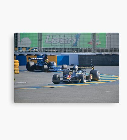 Vintage Formula 1 Racecars Canvas Print