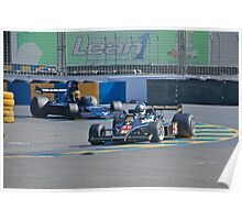 Vintage Formula 1 Racecars Poster