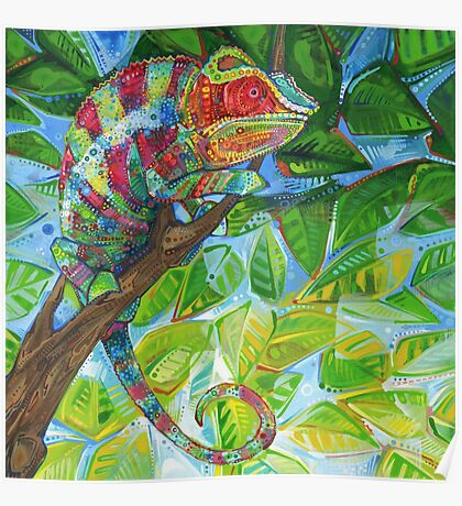 Panther chameleon painting - 2012 Poster