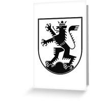 The Lion of Heidelberg (black on white) Greeting Card
