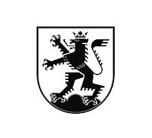 The Lion of Heidelberg (black on white) Photographic Print