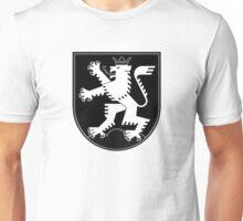 The Lion of Heidelberg (white on black) Unisex T-Shirt