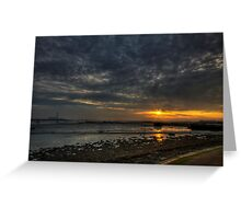 Strand Sunrise Greeting Card