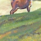 Cervidae Country - Acrylic Painting of a Deer in the English Countryside by MikeJory