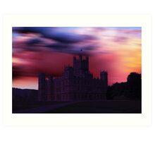 Downton Abbey Dusk Art Print