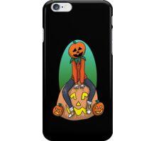 Pumpkin Kid on a Pumpkin Leaf Bag iPhone Case/Skin