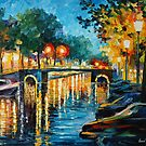 AMSTERDAM&#x27;S REFLECTIONS - LEONID AFREMOV by Leonid  Afremov
