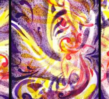 French Curve Abstract  Triptych Sticker