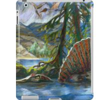 Spinosaurus in the water iPad Case/Skin