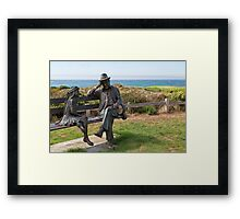 Playing Checkers at The Inn Framed Print