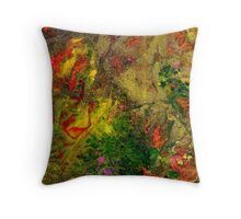 Sparkling Green Throw Pillow