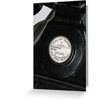 WW2 black telephone Greeting Card