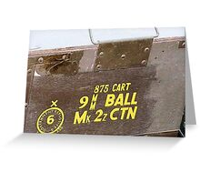 9 mm Ammo Box Greeting Card