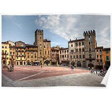 Afternoon walk in Arezzo Poster