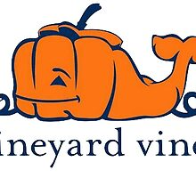 Vineyard Vines Whale Sticker || Halloween Pumpkin  by laurrenpowell