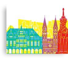 Bremen skyline pop Canvas Print