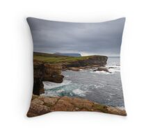 Yesnaby Clifftop View, Orkney Throw Pillow