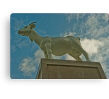 Goat Sculpture - Spitafields, London, UK Canvas Print