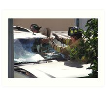 WINDSHIELD OF THIS SUV- HENCE TRUCK IN FENCE Art Print