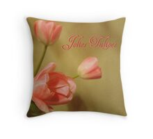 Pretty Tulips Throw Pillow