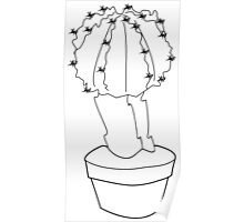 Cactus Outline Poster