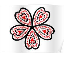 Flowered Heart Poster