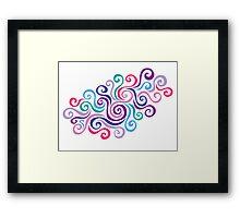 Swirlycule Framed Print