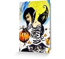 emo halloween fairy Greeting Card