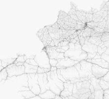 Roads of Austria. (Black on white) Sticker