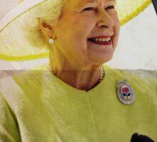 Portrait of Queen Elizabeth II Sticker