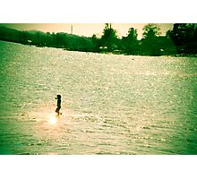 Kid running in Shallow Water - Denmark Photographic Print